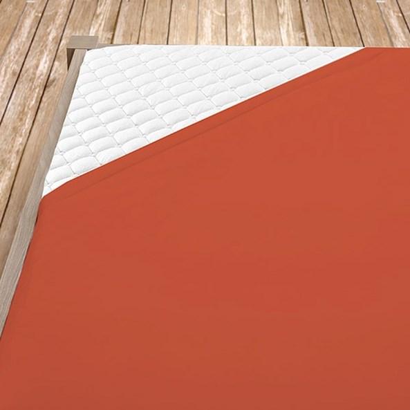 Terrakotta pamut jersey gumis lepedő