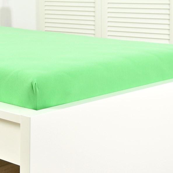 Jersey gumis lepedő lime zöld