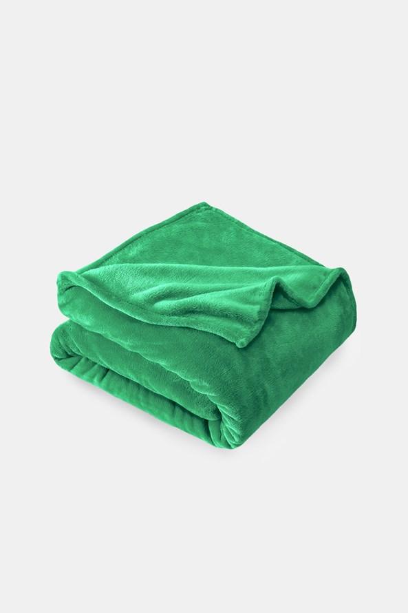 Mikroplüss pléd, zöld