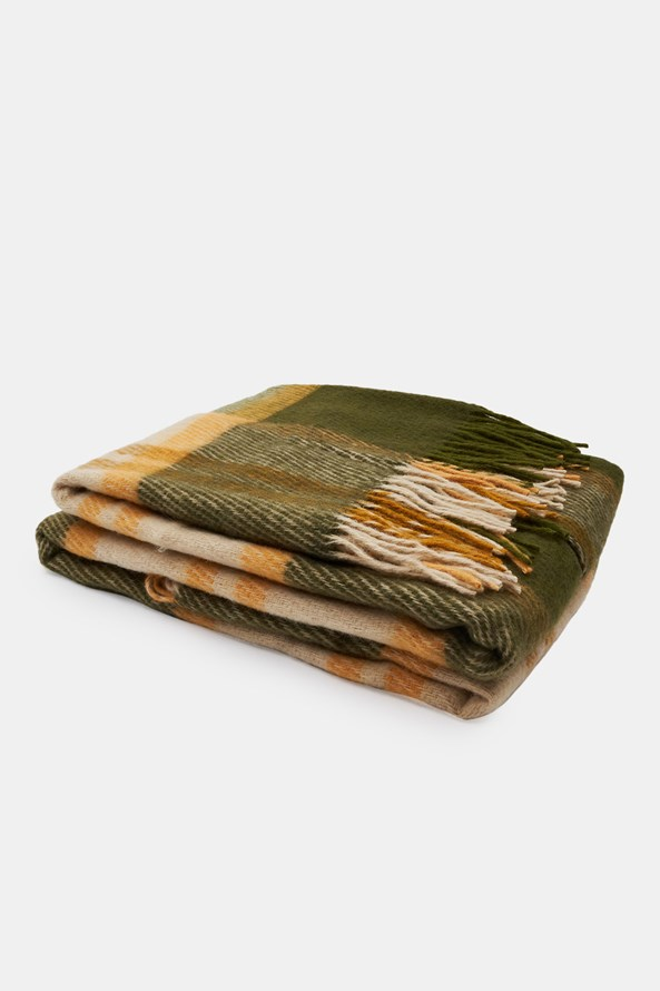 Luxus pléd új-zélandi gyapjúból, zöld