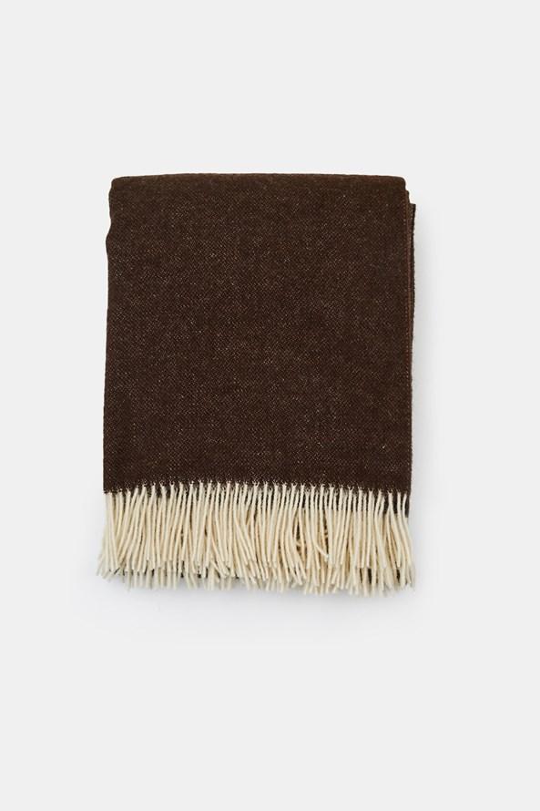 Luxus pléd új-zélandi gyapjúból, csokoládébarna