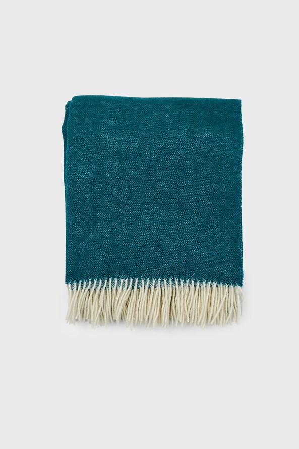 Luxus pléd új-zélandi gyapjúból, türkizkék