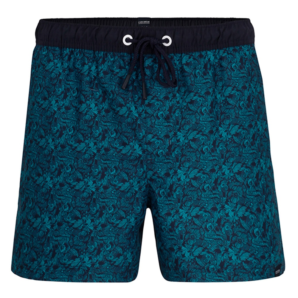 CECEBA Jungle férfi fürdő sort kék S