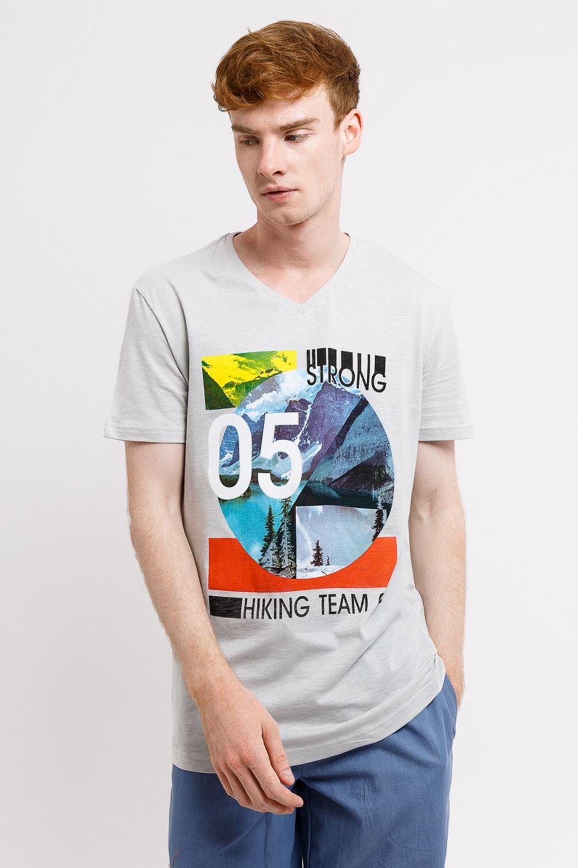 MF Strong férfi póló szürke S