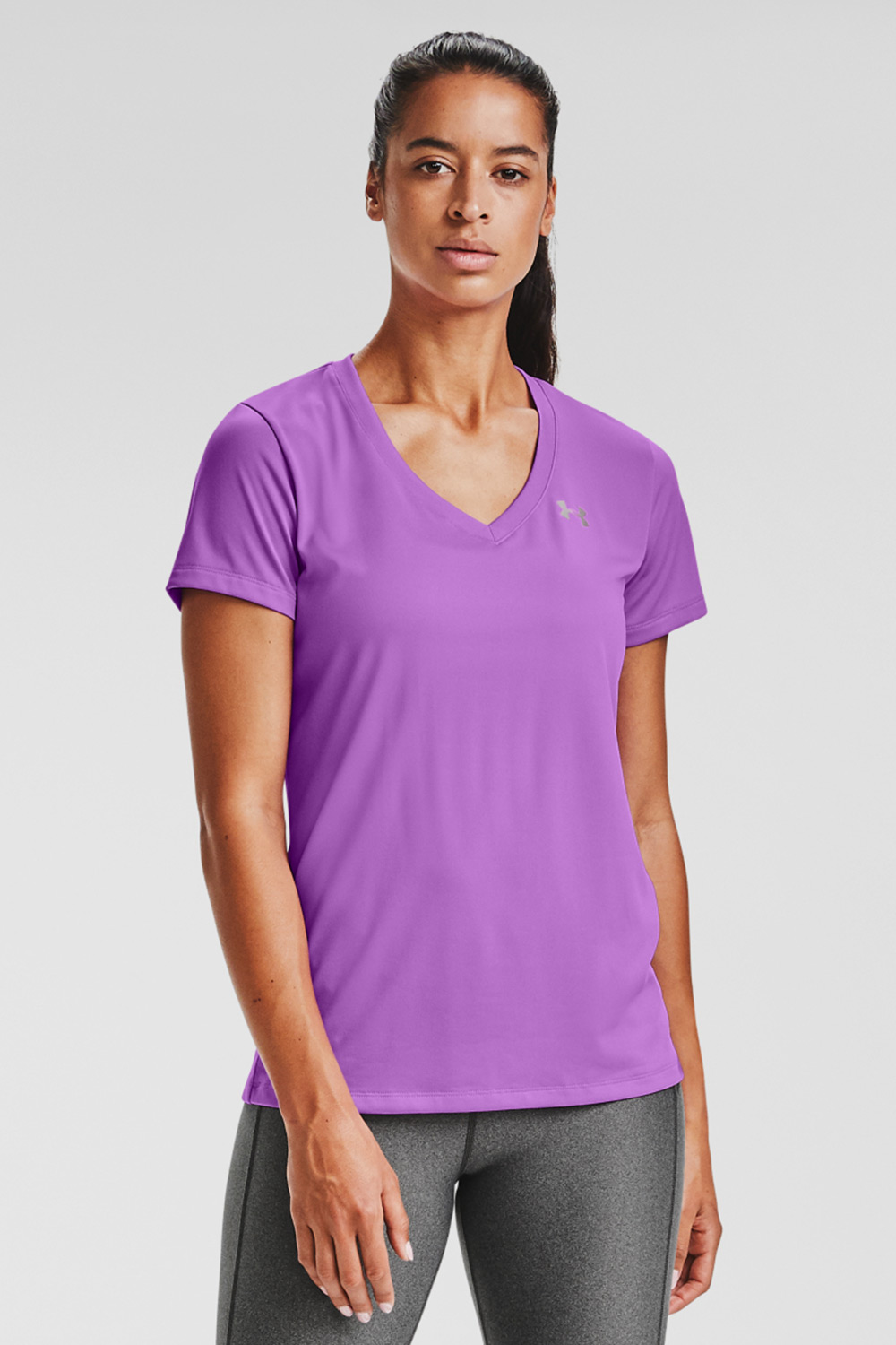 Under Armour Solid lila sport póló