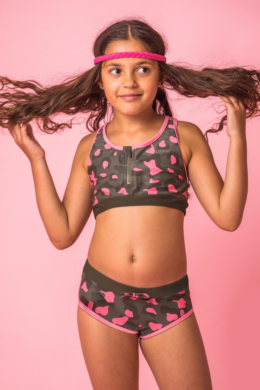 Lea kétrészes lányka fürdőruha többszínű 152