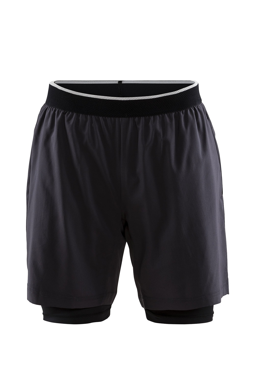CRAFT Charge 2 v 1 férfi short nadrág sötét-szürke S