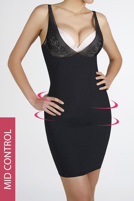 Lejra alakformáló ruha fekete M