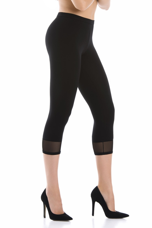 Mendi pamut női leggings fekete S
