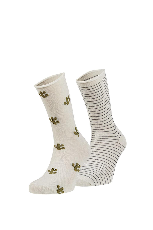 Mercia zokni, 2 pár 1 csomagban ekrü uni