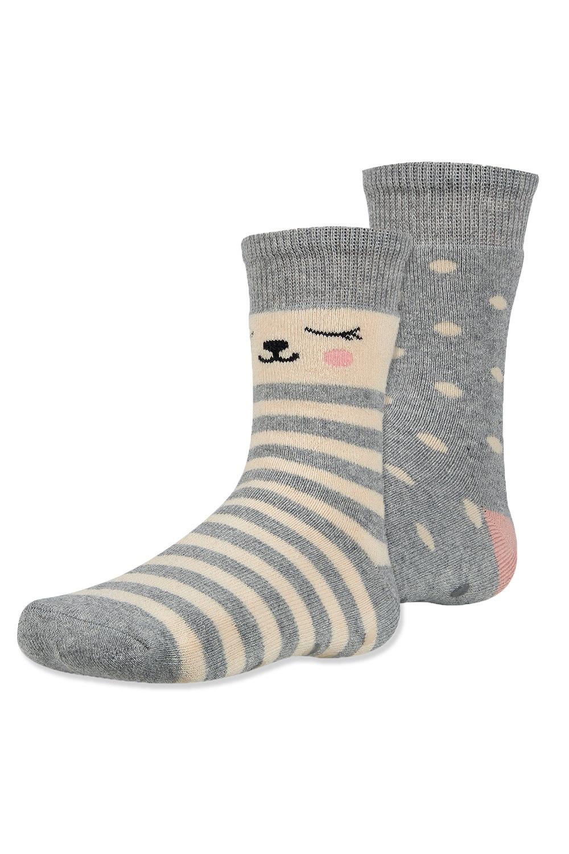 Dani meleg gyerek zokni, 2 pár 1 csomagban kék-bézs 26-28