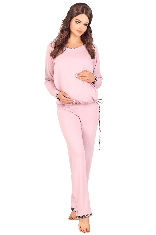 Agatha kismama szoptatós pizsama rózsaszín 36