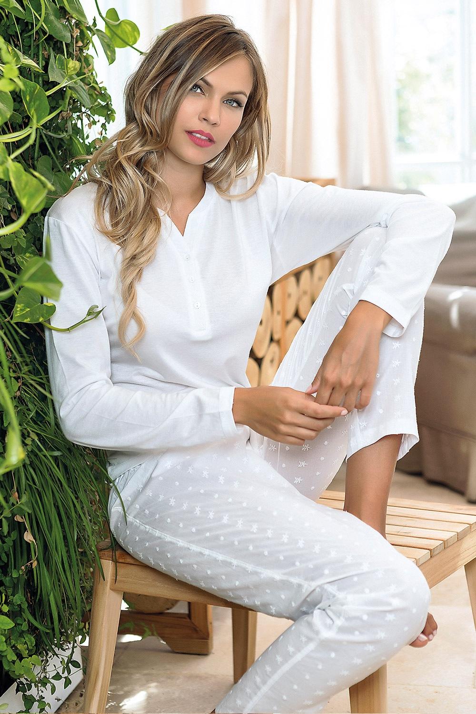 Itaca női pizsama fehér S