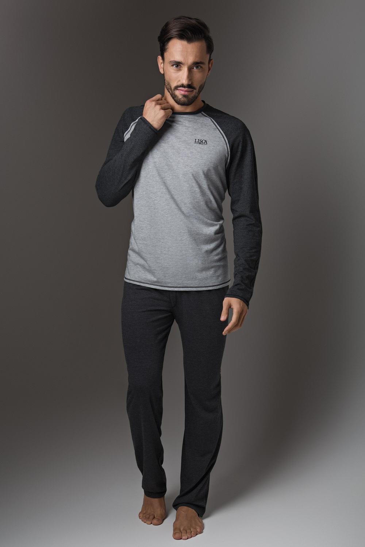 LISCA Thor Dark Grey, férfi pizsama sötét-szürke M