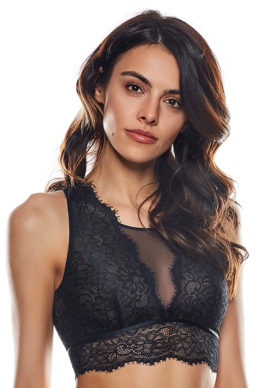 Leona bralette bélés nélküli melltartó fekete M