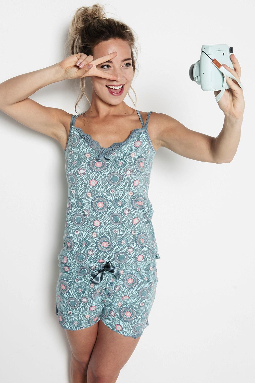 Circles női pizsama kék S