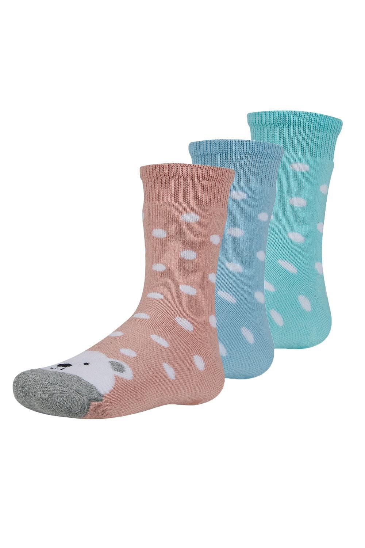 Dorote meleg gyerek zokni, 3 pár 1 csomagban színes 26-28