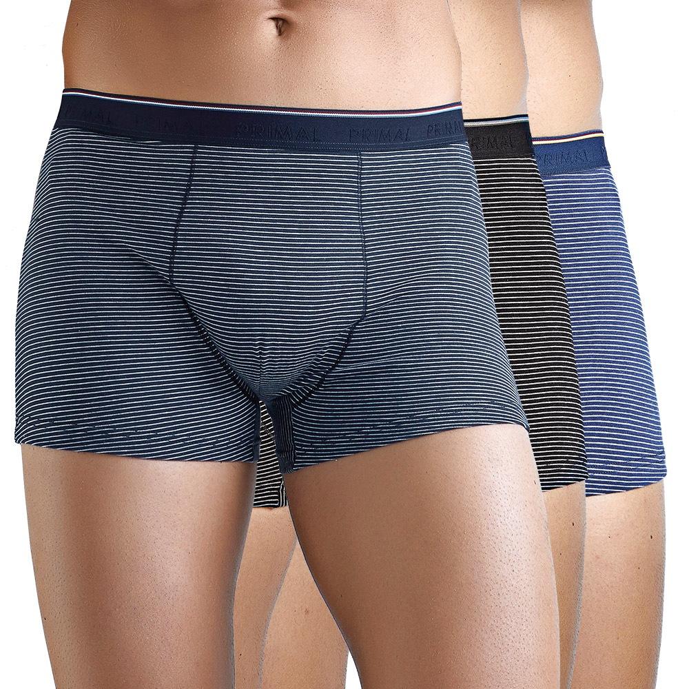 Férfi boxeralsó kék és fekete színkombinációban, 3 db 1 csomagban színes S