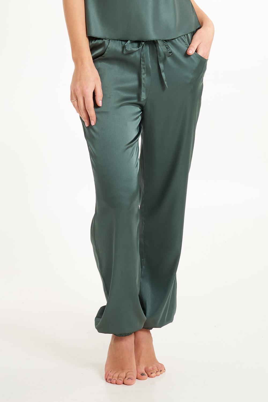 Secret Delight szatén pizsamanadrág zöld XS