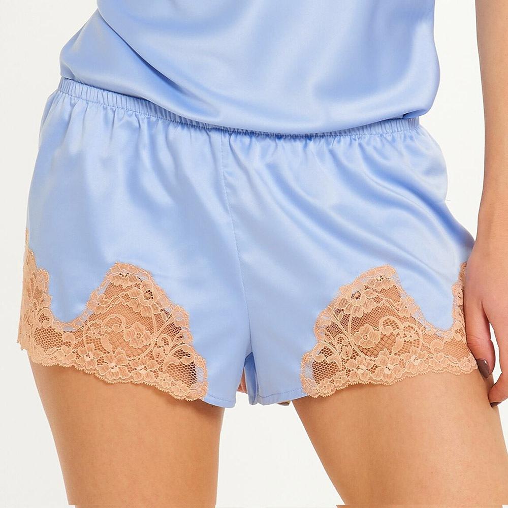 Marina női pizsama sort kék XS