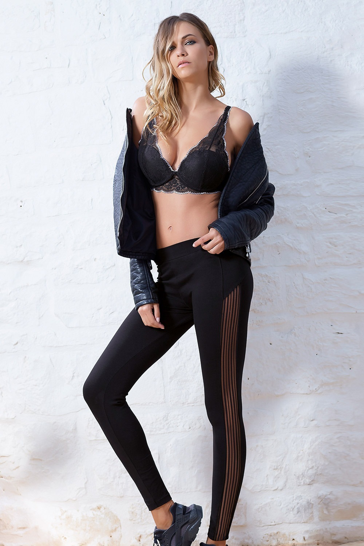 Carine pamut leggings fekete S/M