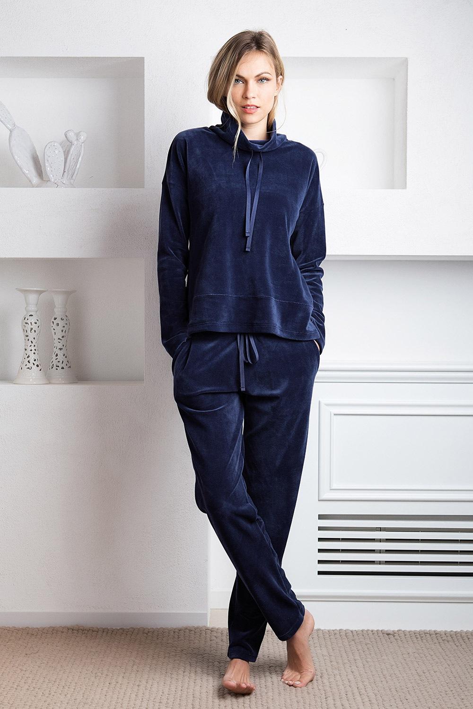 Giada otthoni női szett, kék kék S