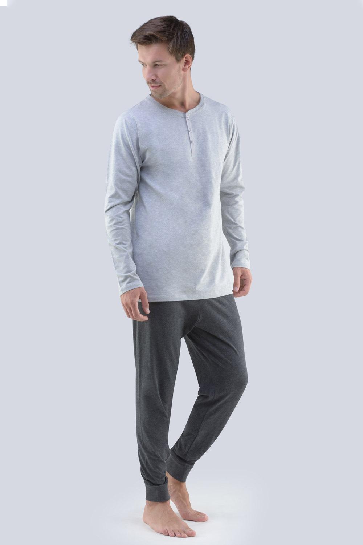GINO Tomáš férfi pizsama szürke M