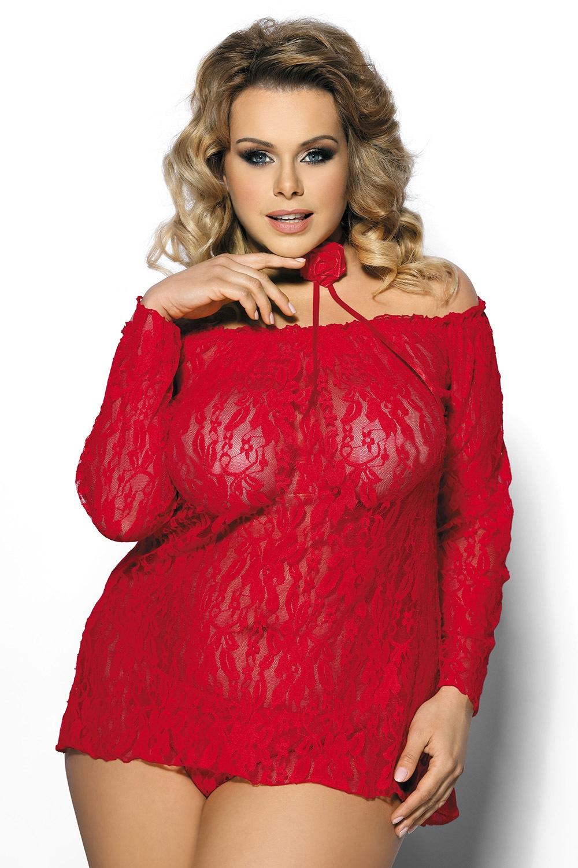 Alecto szett, hálóing és női alsó piros L