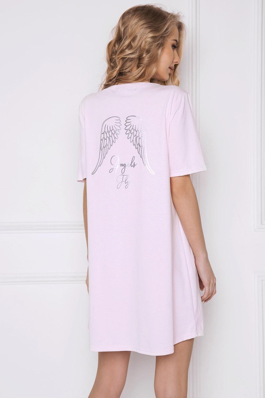 Angel női hálóing, rószaszínű rózsaszín S