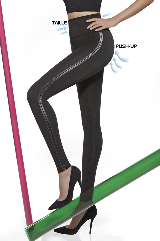 Angelica mid-alakformáló leggings, Push-Up hatással fekete 2