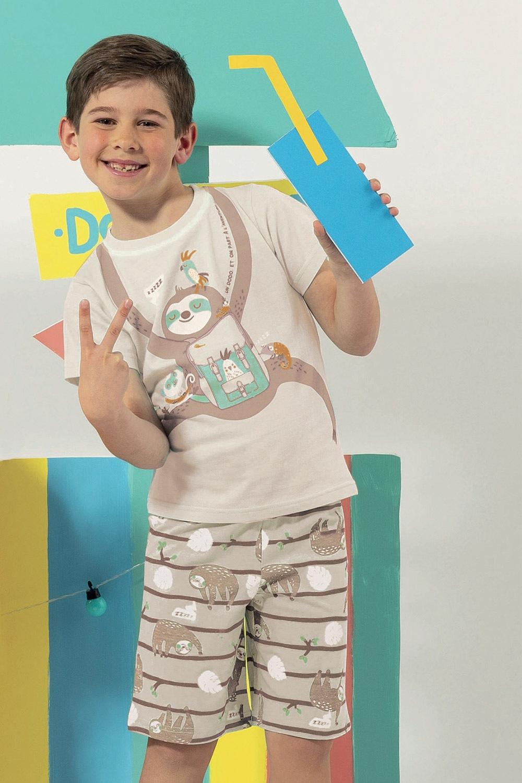Lazy fiú pizsama színes 3