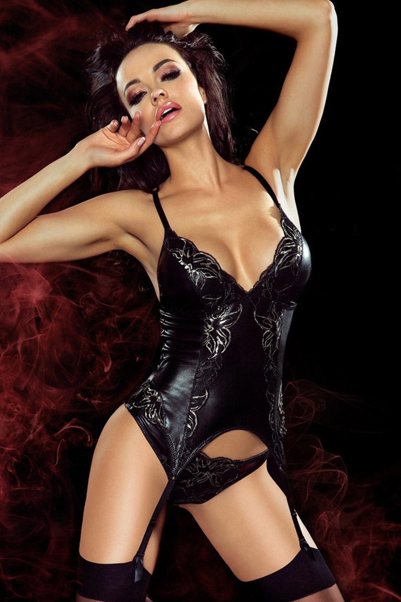 Carole luxus fűző fekete S