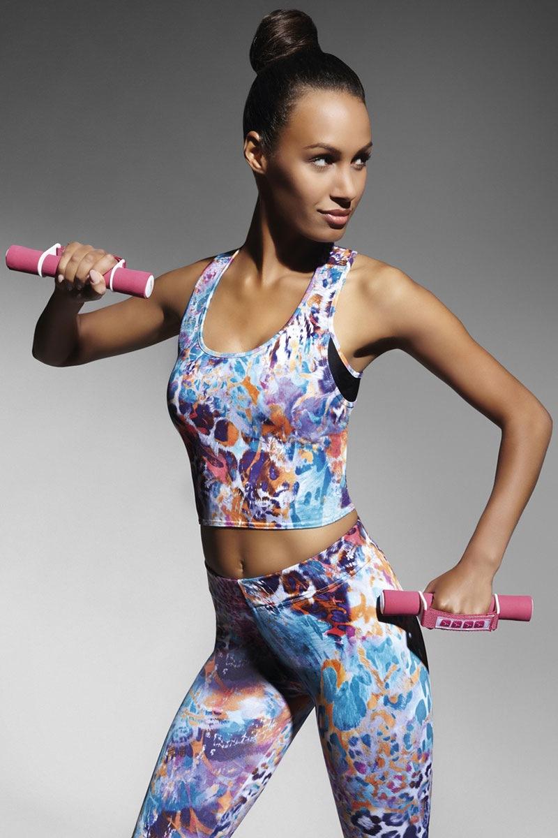 Caty70 női sport top színes 2