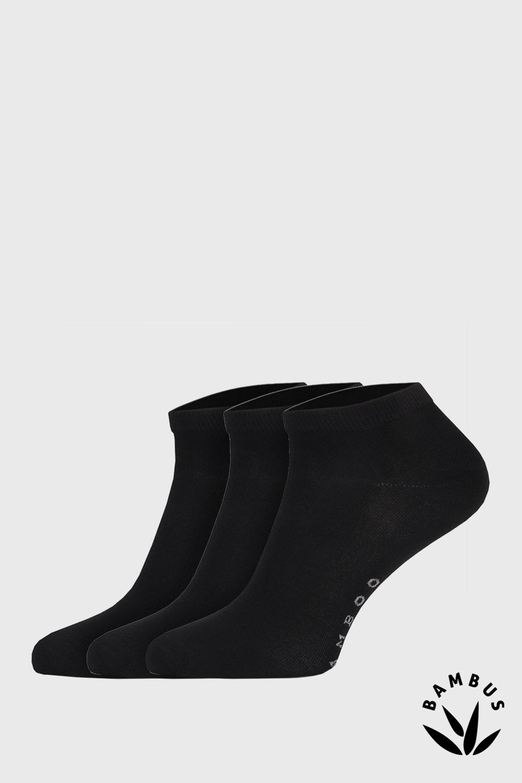 Desi bambusz szálas zokni, fekete, 3 pár 1 csomagban fekete 43-46