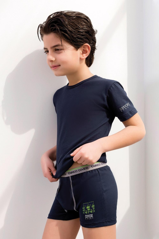 Enrico Coveri 4071 fiú boxeralsó és póló szett kobalt 5/6