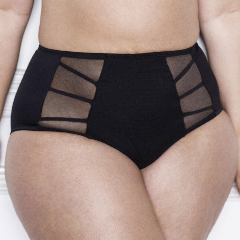 Elomi Sachi klasszikus női alsó, magasított fekete M