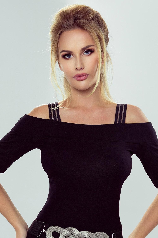 Erin blúz jellegű női póló fekete XXXL
