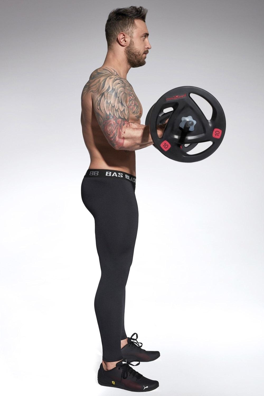 Evergym férfi sport leggings fekete S