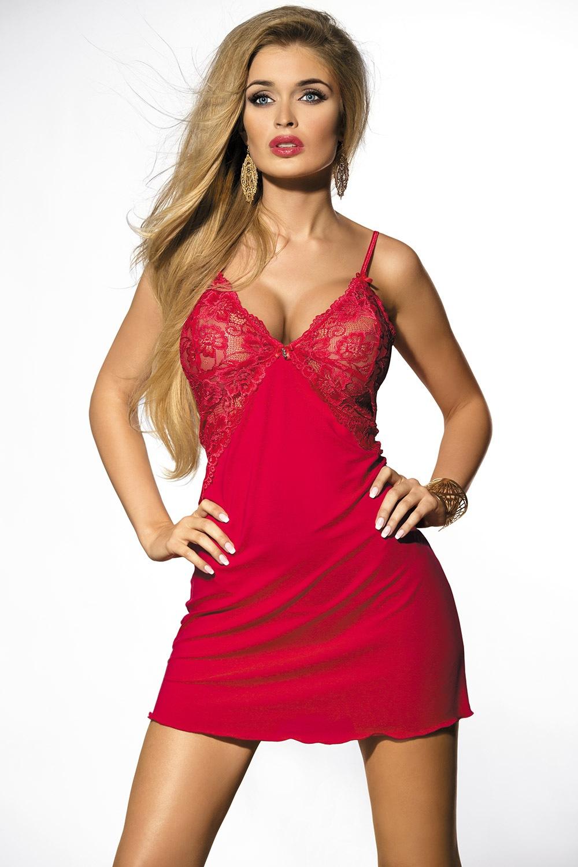 Flawia csábító női hálóing piros S