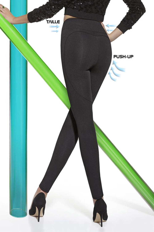 Ginger mid-alakformáló leggings, Push-Up hatással fekete 2