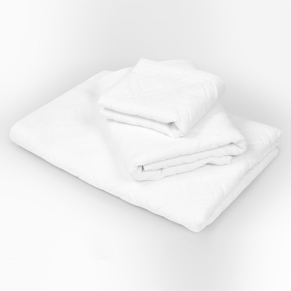 Charles nagyméretű törölköző, fehér fehér 50x90