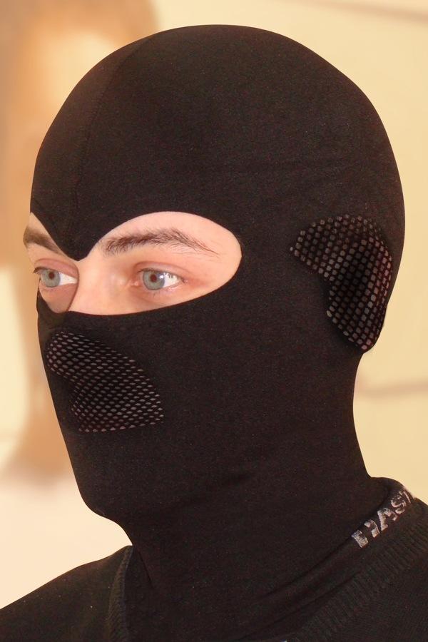 HASTER Unisex - funkcionális maszk sapka fekete S/M