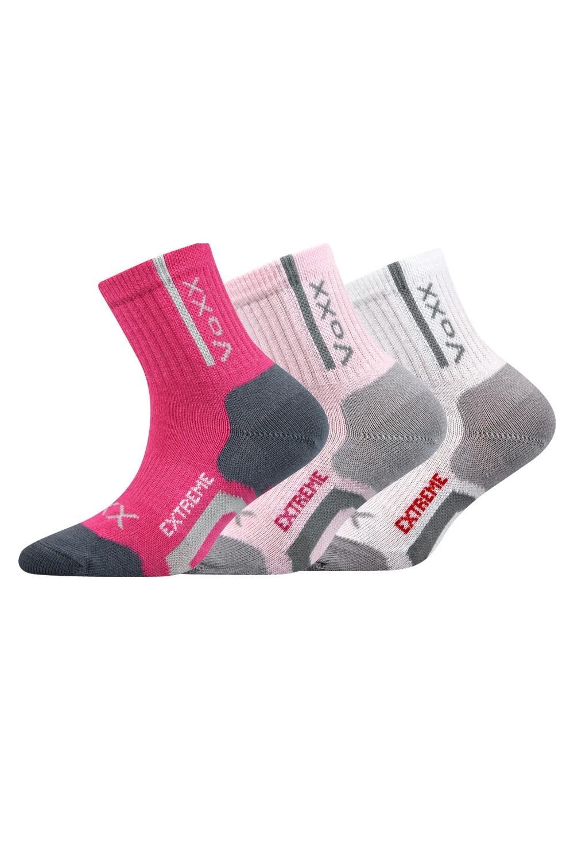 Josífek lányka sport zokni, 3 pár 1 csomagban színes 20-24