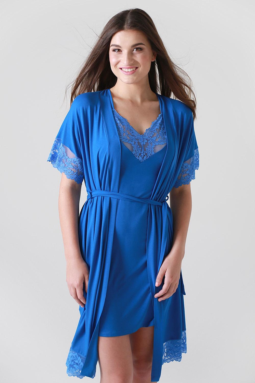 Dorothea női köntös kék 36