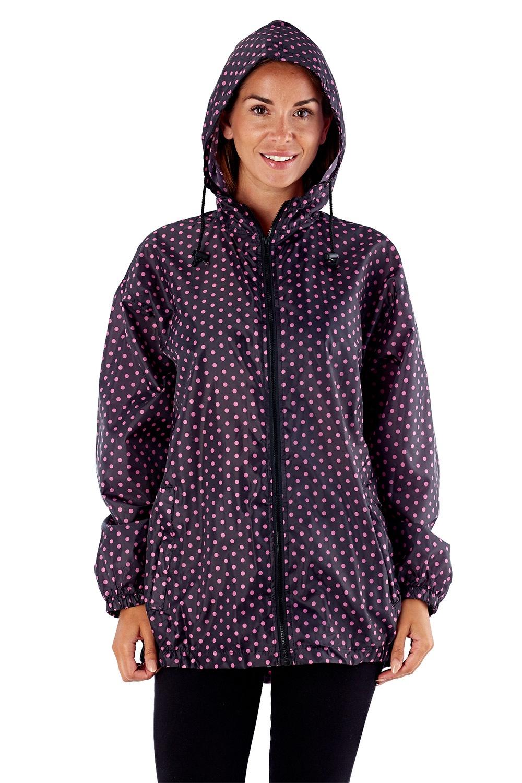 PROCLIMATE Pink vízálló dzseki, zsebébe elcsomagolható többszínű S