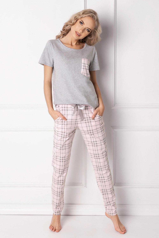 Londie női pizsama, hosszú fehér S