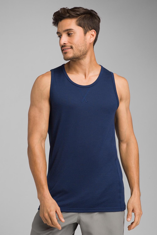 PRANA Transverse Tank férfi sport trikó kék S