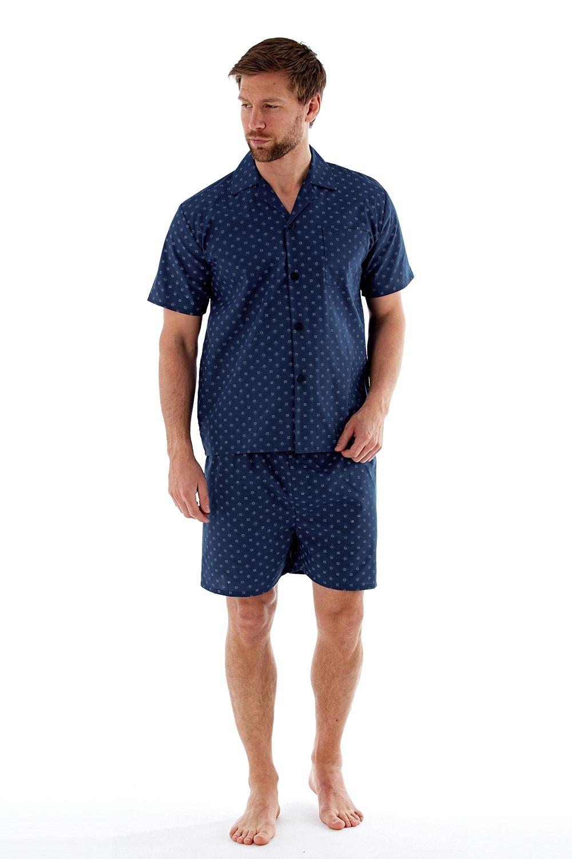 Flórián férfi pizsama világoskék M
