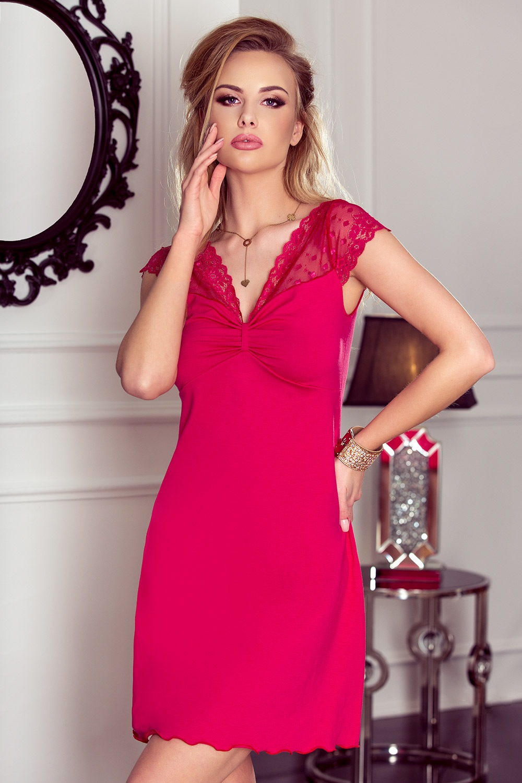 Malena luxus női hálóing fuchsia S