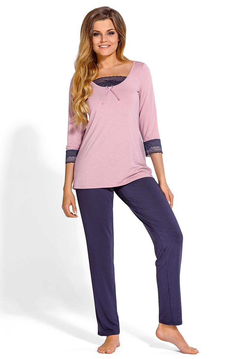 Medine elegáns női pizsama rózsaszínes-lila S